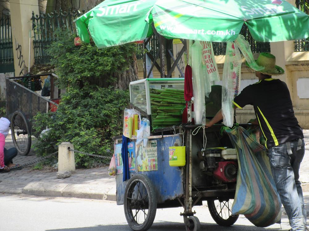Sok palmowy street food kambodża