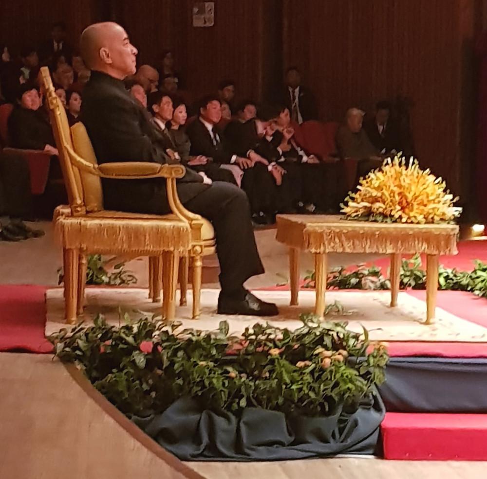 Król Kambodży w Chaktomuk Conference Center na międzynarodowym wydarzeniu ASEAN