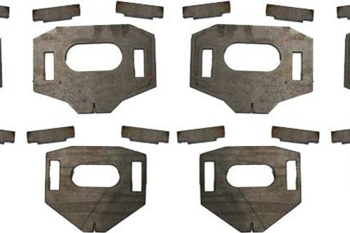 TOTAL CHAOS LOWER CONTROL ARM CAM TAB GUSSETS