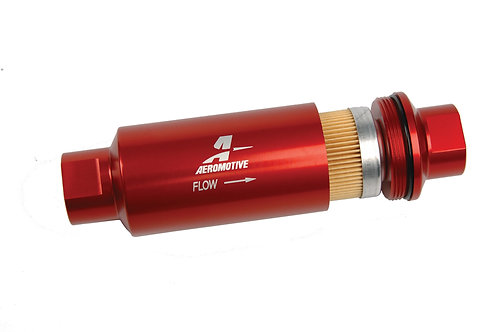 """Filter, In-Line, 10-m Fabric Element, ORB-10 Port, Bright-Dip Red, 2"""" OD"""