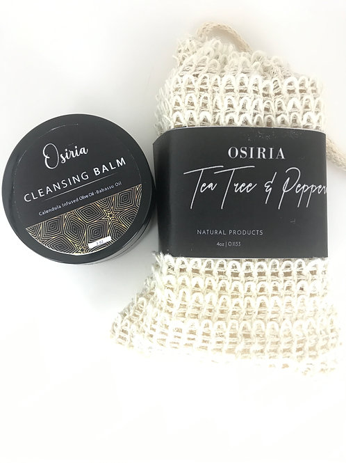 Tea Tree Soap & Cleansing Balm for all Natural Facial and Body Care