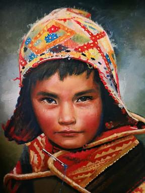 Retrato óleo sin marco 1a