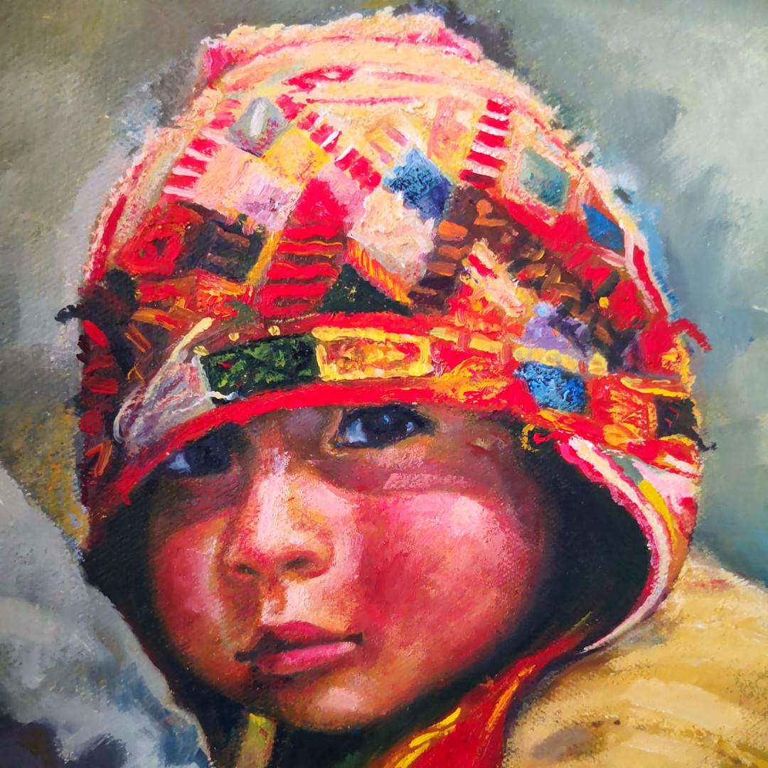 Retrato óleo sin marco 3a