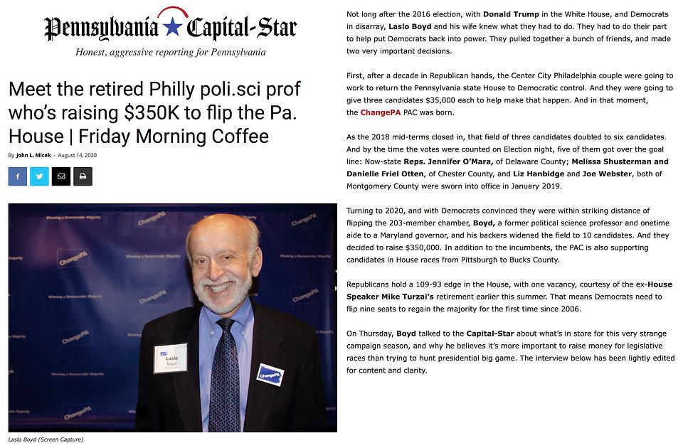 Pennsylvania Capital-Star Article re Las