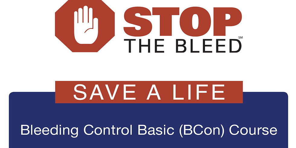 Stop The Bleed - FREE Workshop (March 31st)