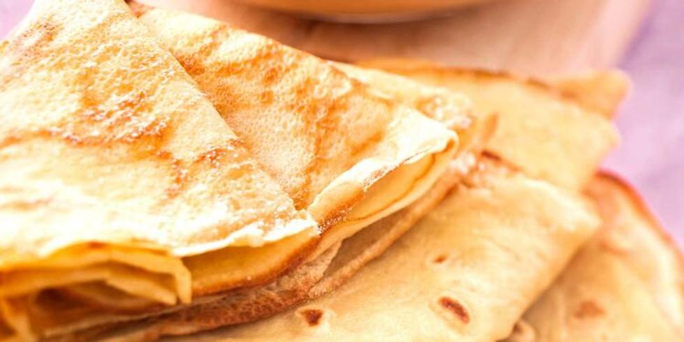 confection et dégustation de crêpes avec nathalie