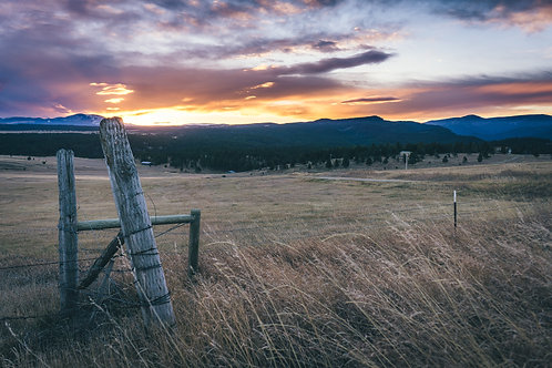 Montana Fencepost Sunrise