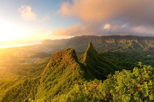 Olomana Sunrise Panorama
