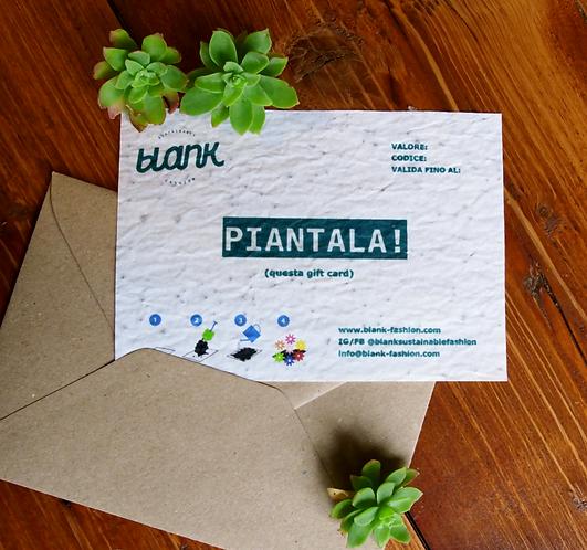 Gift Card con semi di fiori