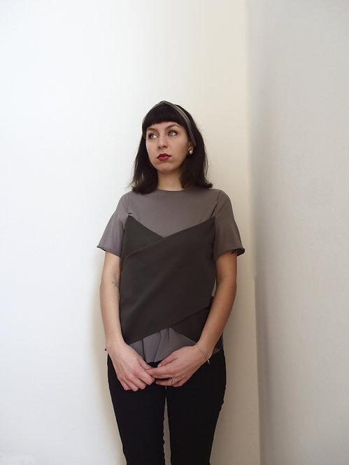 T-shirt con corpetto