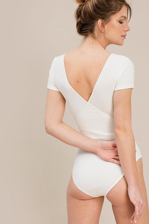 Body in Cotone Organico 04/03 Bianco- Nago