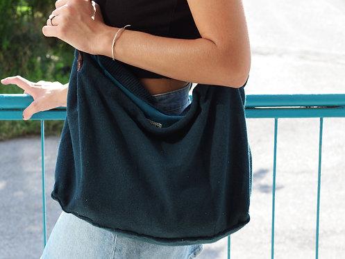 Tricot Bag - Tote con manici in pelle