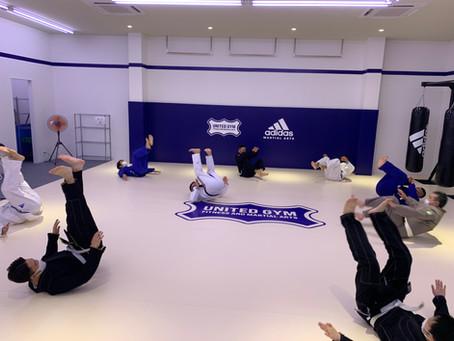 火曜のブラジリアン柔術クラス