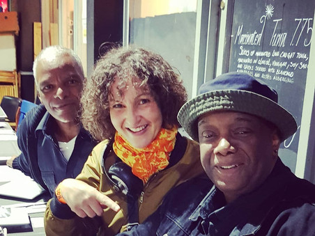 with Clinton Rock Jones, London, Brixton