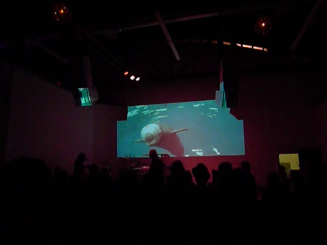 Live projection with drums