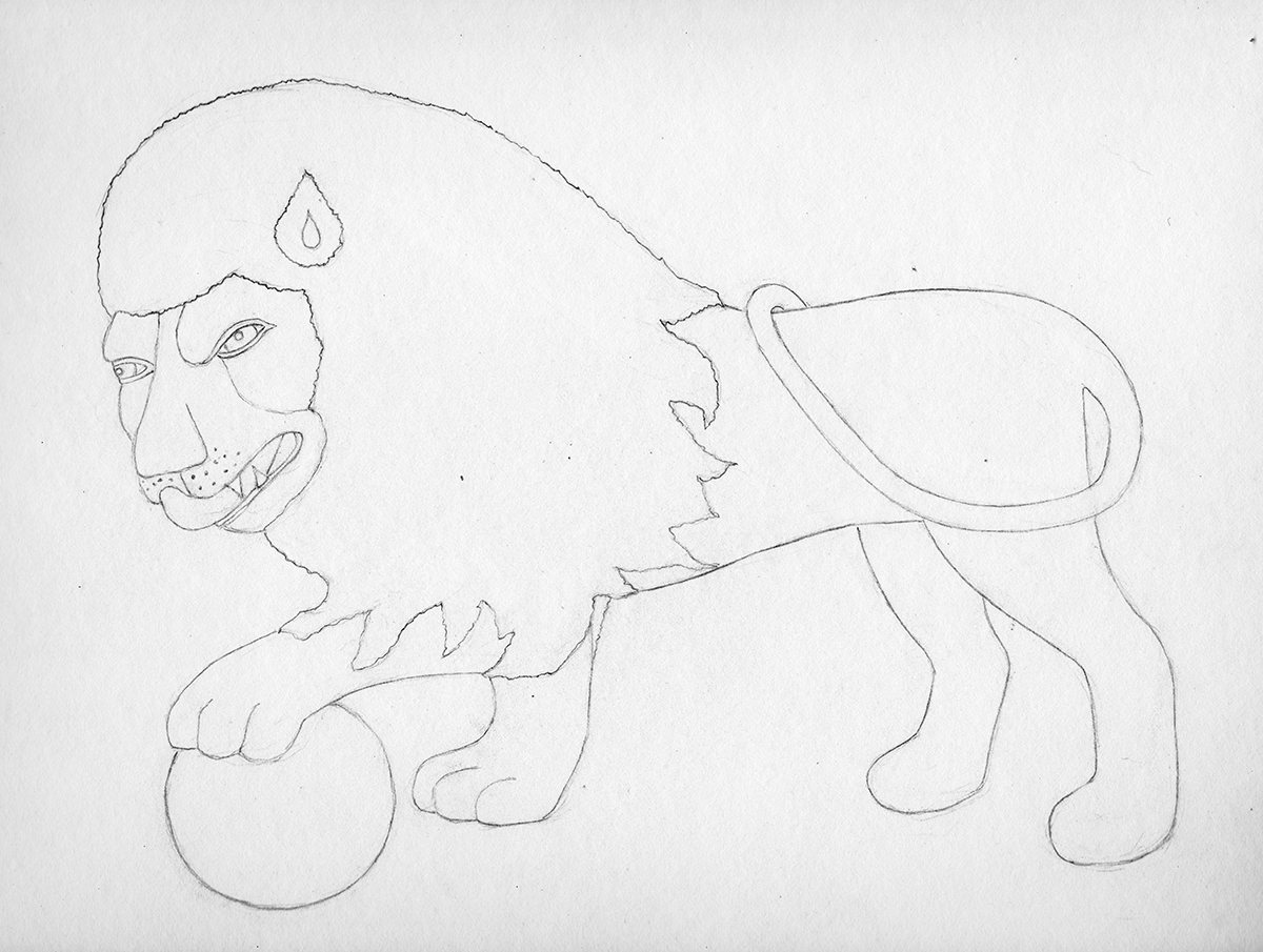 Drawing Lions at the Met