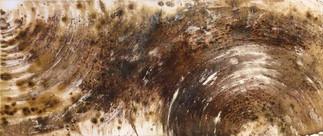kaffee und acryl auf bespanntem keilrahmen 58x25cm  CHF 280.--