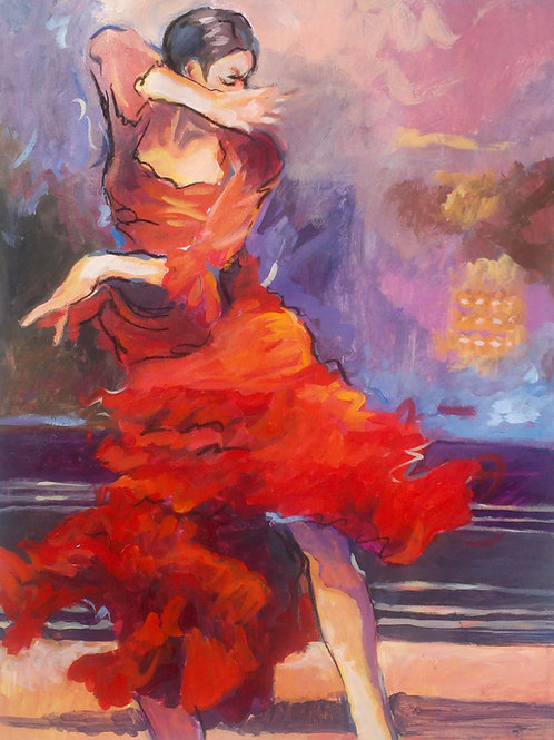 Flamingo Dancer - Sold