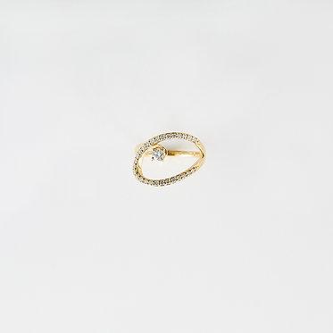 Oval Loop Pinky Ring