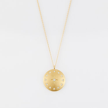 Round Star Frosted Pendant