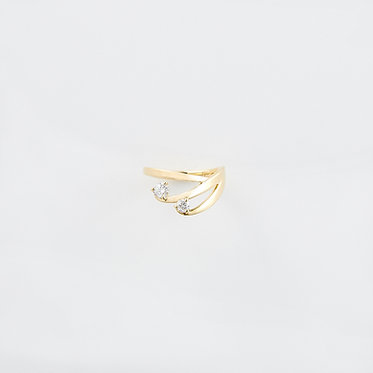 Wave Crest Pinky Ring