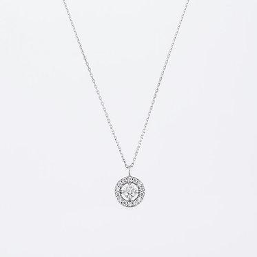 """W oh"" Diamond Pendant"