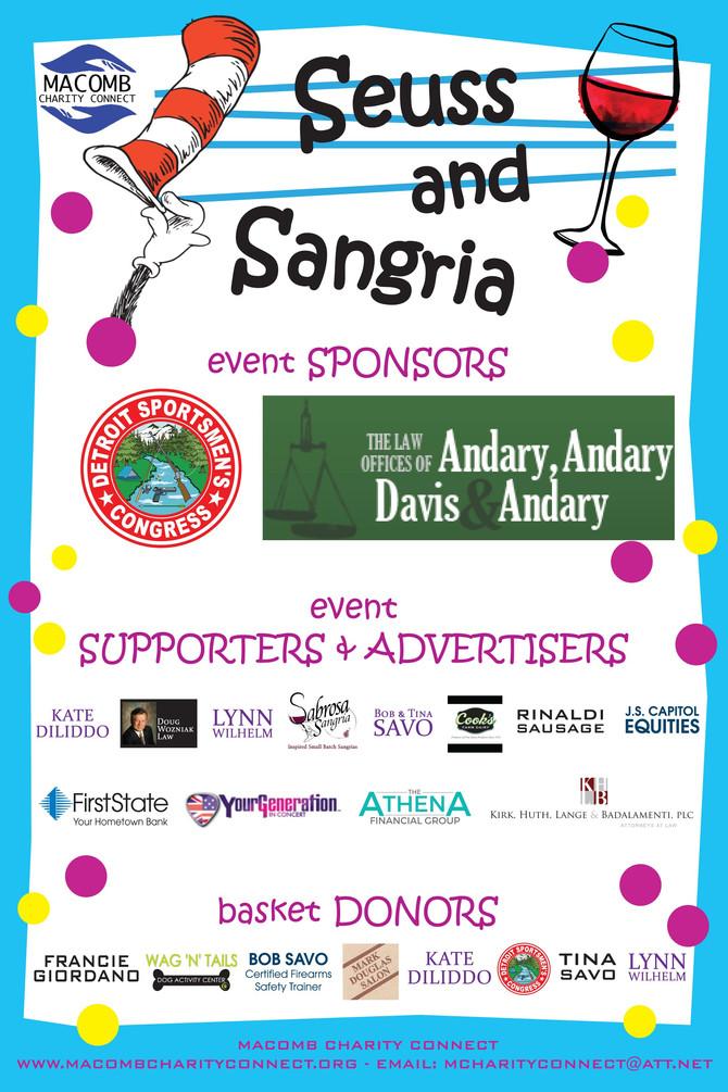 2nd Annual Seuss & Sangria Event