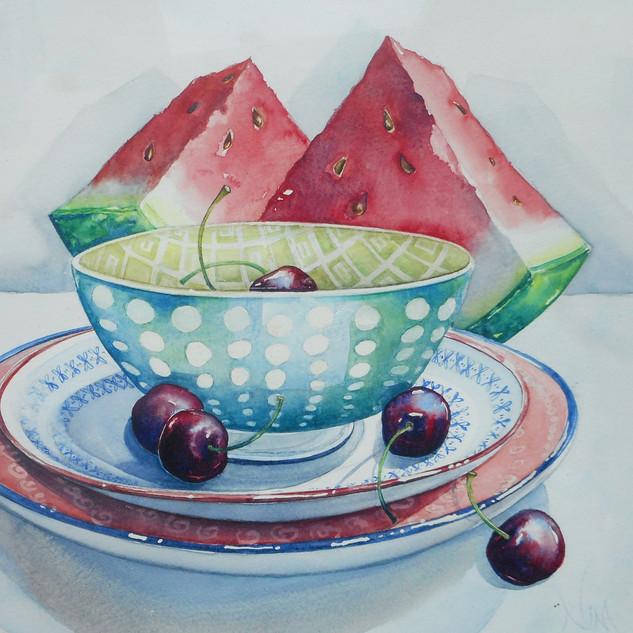 Watermelon & Cherries