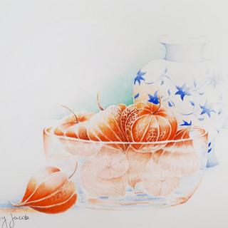 Chinese Lanterns & Porcelain Vase