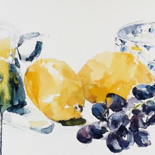 Summer Lemons and Grapes