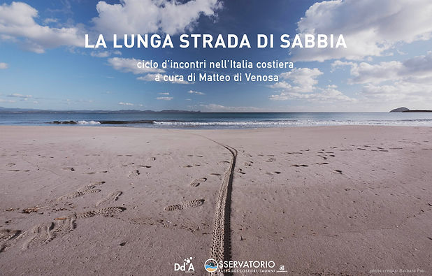 Cartolina La lunga strada di sabbia home