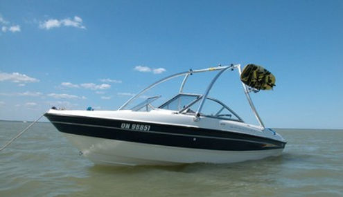 BAYLINER 215 DECK BOAT W MONSTER TOWER