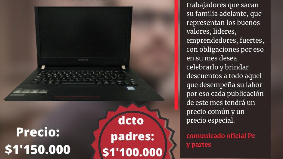 Portátil Lenovo e41 i5 de sexta generación