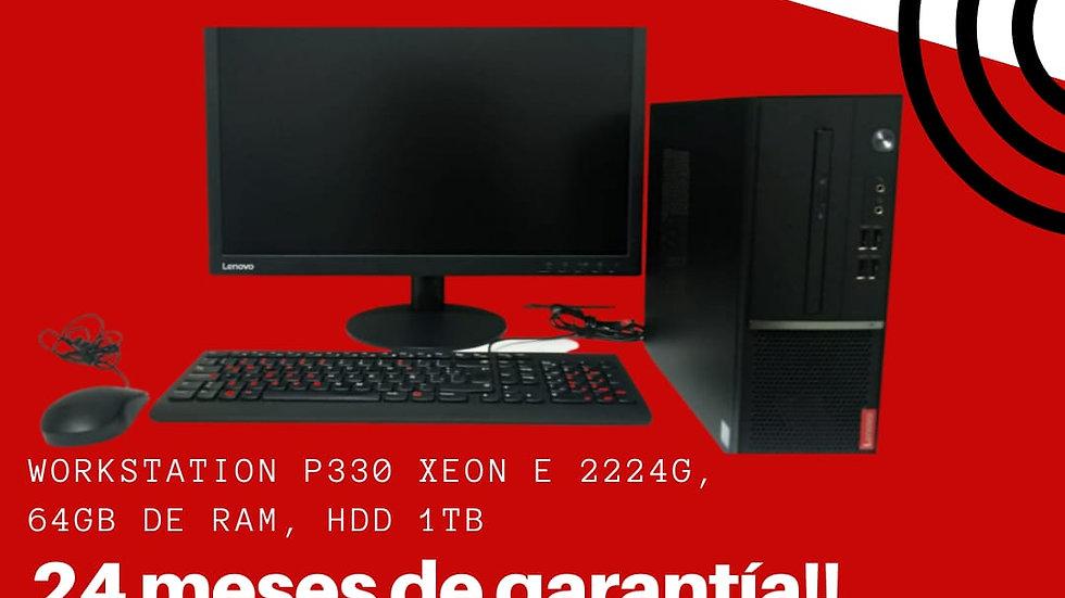 Workstation Lenovo P330 Xeon Ram 64gb Open Box