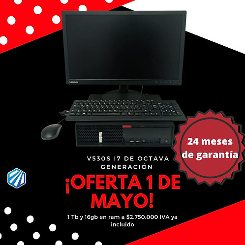 Computador completo Lenovo V530 S CORE I7 8700 Windows 10