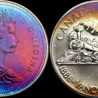 1986 Canadian Silver Dollar PCGS SP65 -