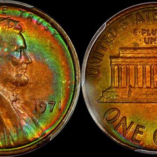 1971 Lincoln Wheat Cent PCGS MS62BN - Ga