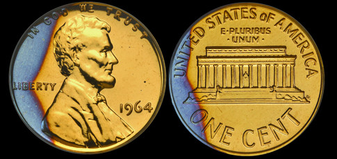 1964 Proof Lincoln Memorial Cent - Garde