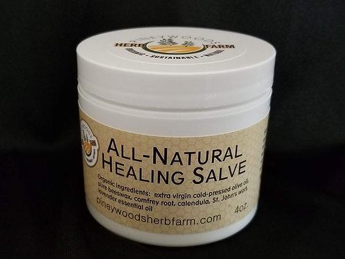 All-Natural Healing Salve - 4 ounce jar - BEST VALUE!