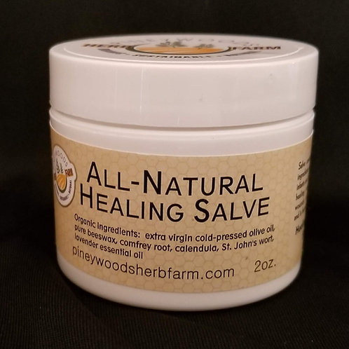 All-Natural Healing Salve - 2 ounce jar - SAVE!