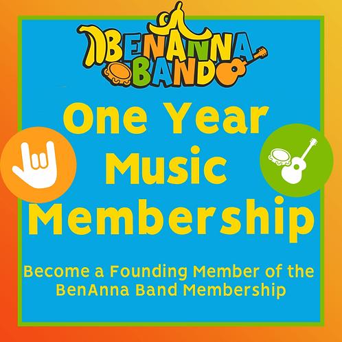 One Year BenAnna Band Music Membership