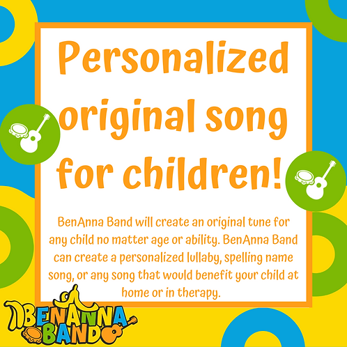 Personalized Original Song for Children