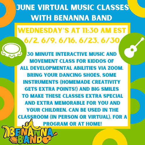 Two Wednesday Weekly Music Classes