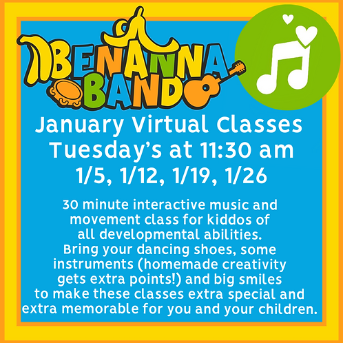 One January Tuesday Weekly Music Classes