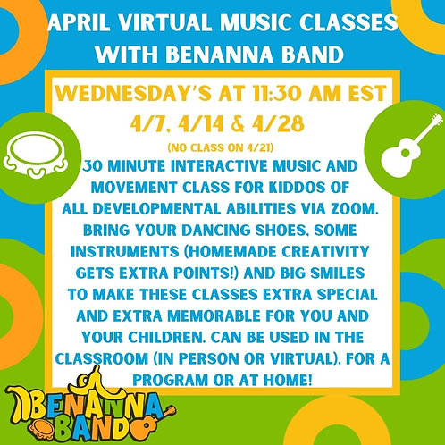 One April Wednesday Music Classes