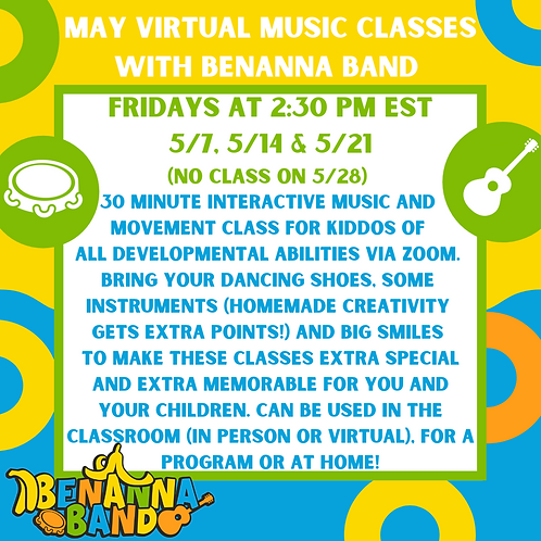 Two May Friday Music Classes