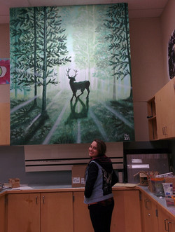 stag mural