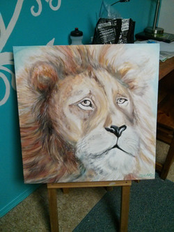 doleful lion