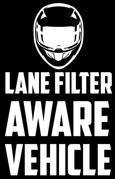 Utah Lane Filter Aware Vehicle Window Sticker
