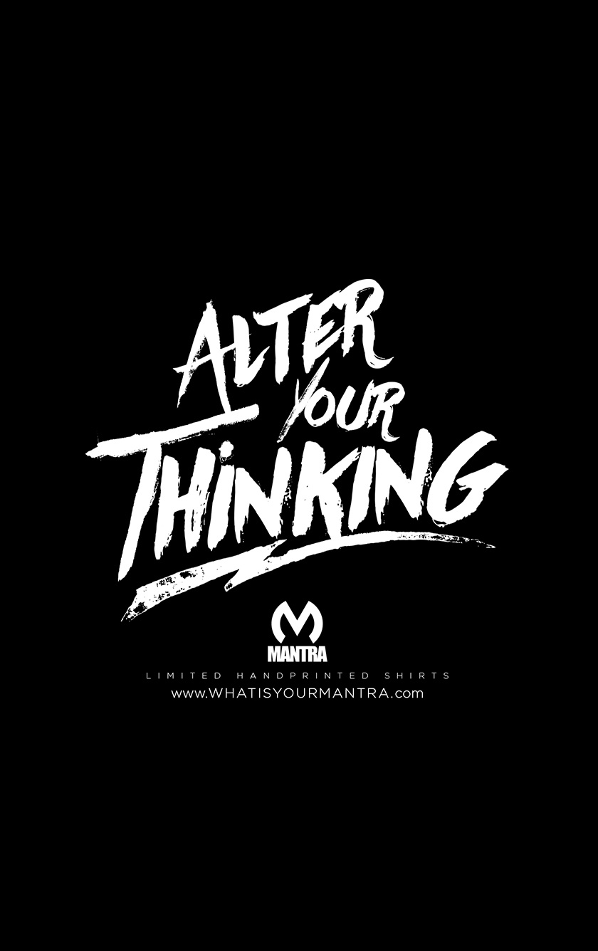 Alter Your Thinking